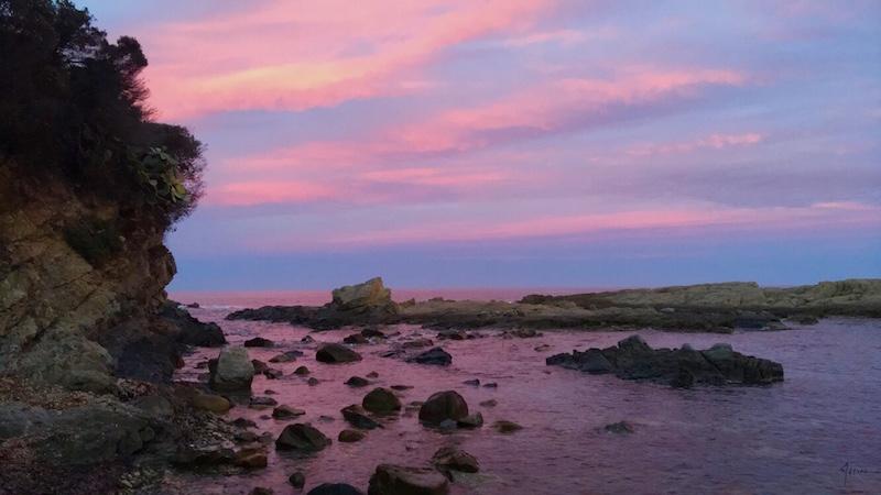 La photo du jour : fin de journée à Solenzara