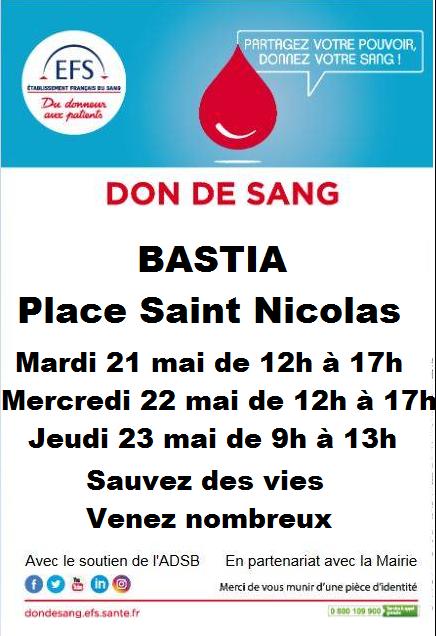 Bastia : Prenez 1 heure pour sauver 3 vies