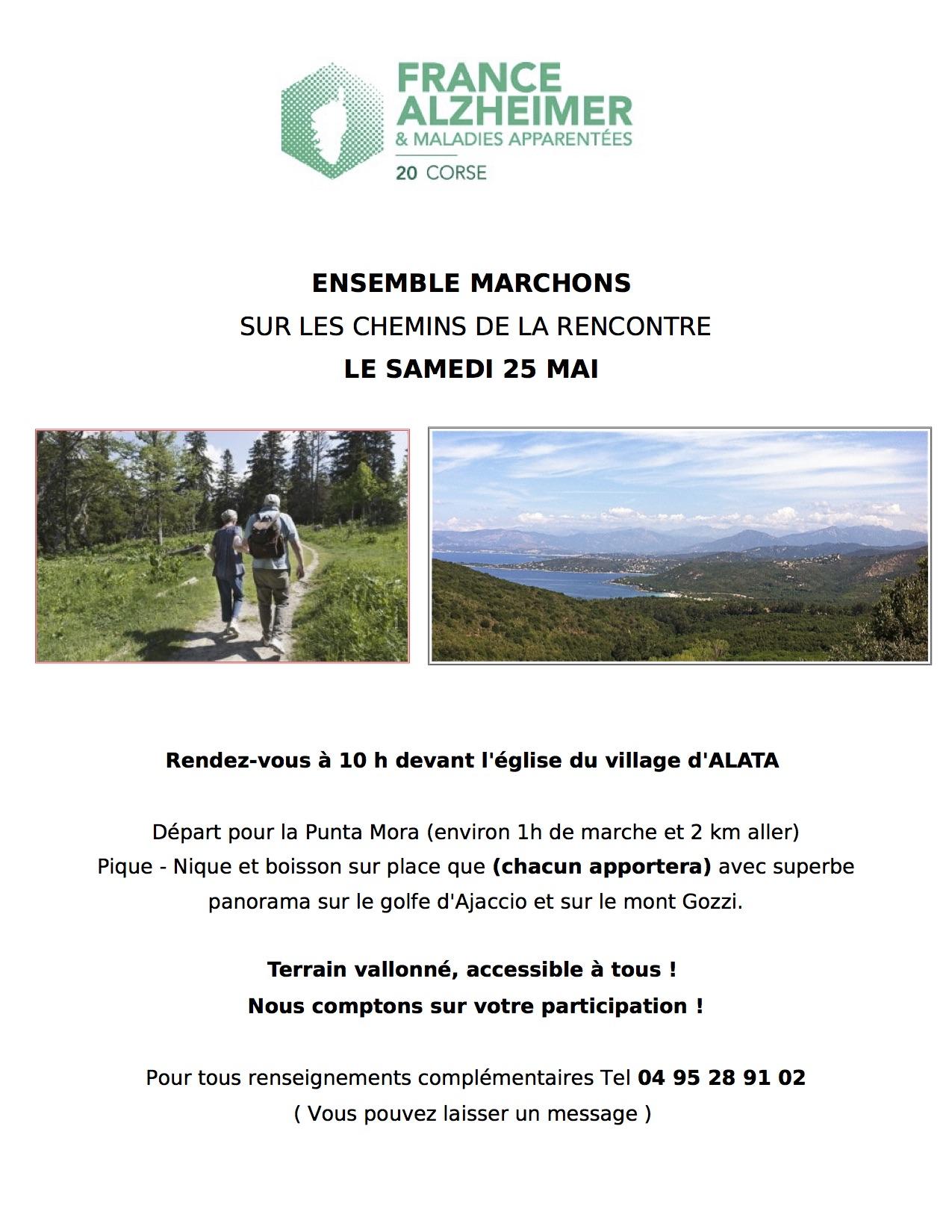 Pique-nique sur le chemin de la rencontre avec France Alzheimer Samedi 25 Mai