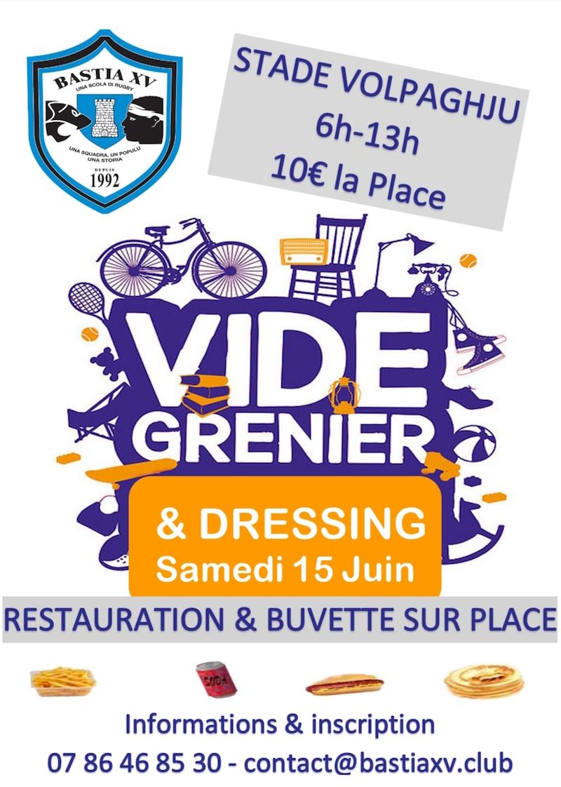 Vide-grenier et vide-dressing de Bastia XV ce 15 juin au stade de Volpaghju