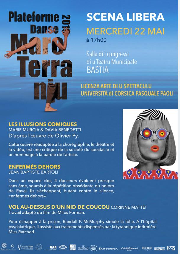 Plate-forme de danse Mareterraniu au théâtre de Bastia