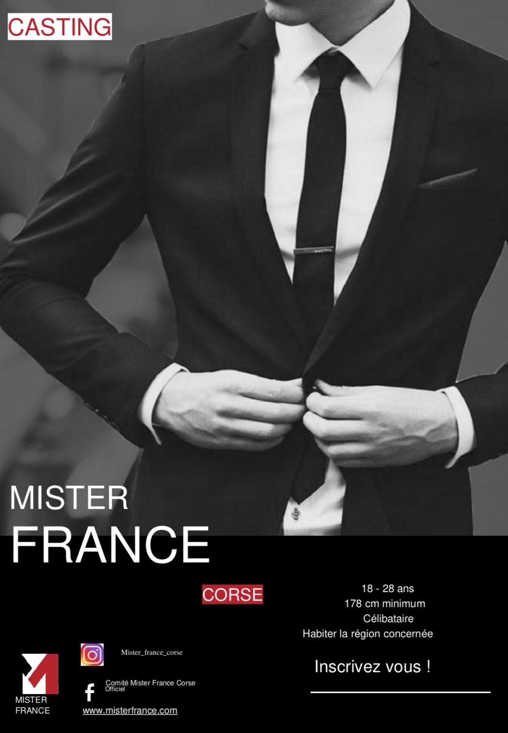Qui sera le nouveau Mister France ? Les inscriptions sont ouvertes en Corse