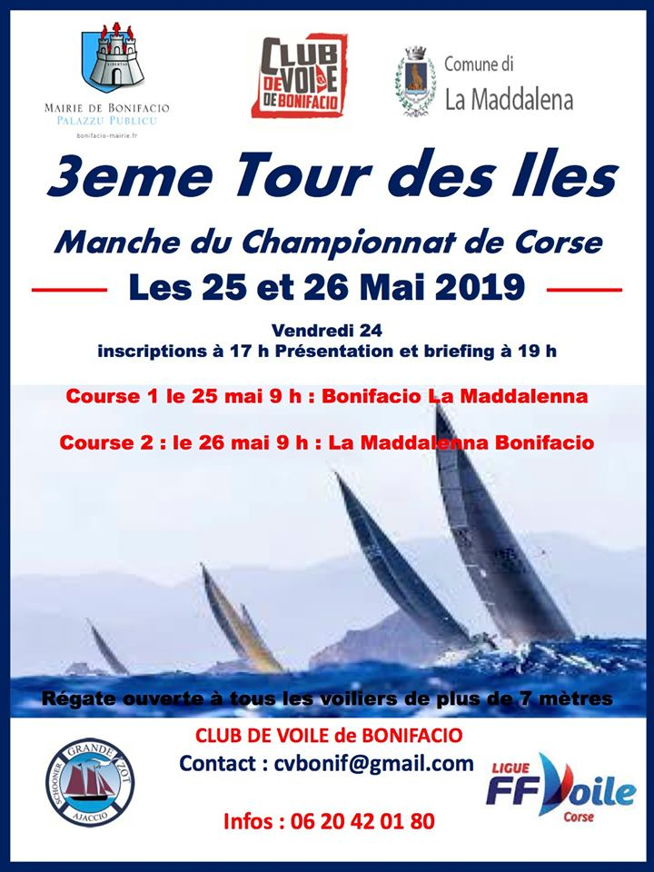 Le  3ème Tour des Iles c'est ce weekend à Bonifacio