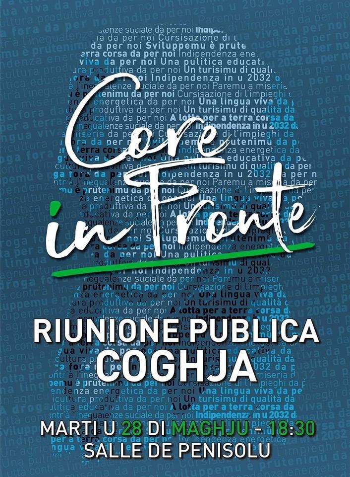 Réunion publique de Core in Fronte à Coghja