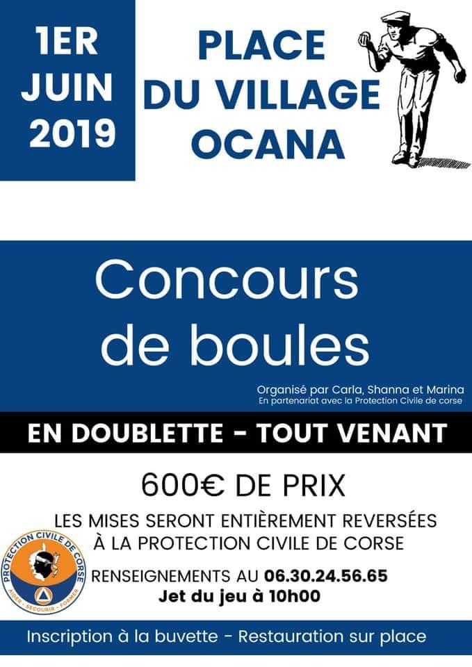 Ocana  : Un concours de boules pour la Protection Civile de Corse