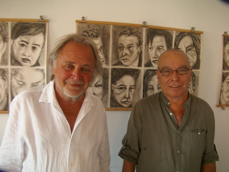 C'est sur une idée de l'artiste peintre André Casabianca (à gauche) que Marco Paccosi a pu exposer au Perchoir