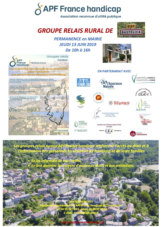 Les Groupes Relais de l'APF vous donnent rendez-vous à Bastelica ce jeudi 13 juin