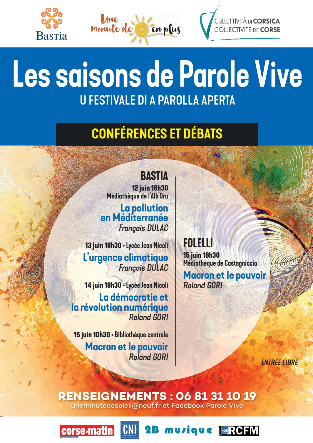 Bastia : Pollution et réchauffement climatique en ouverture de « Parole vive »