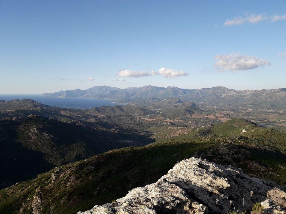 Le Nebbiu et le Cap corse depuis les hauteurs de Santu Petru di Tenda (Battì Lucciardi)