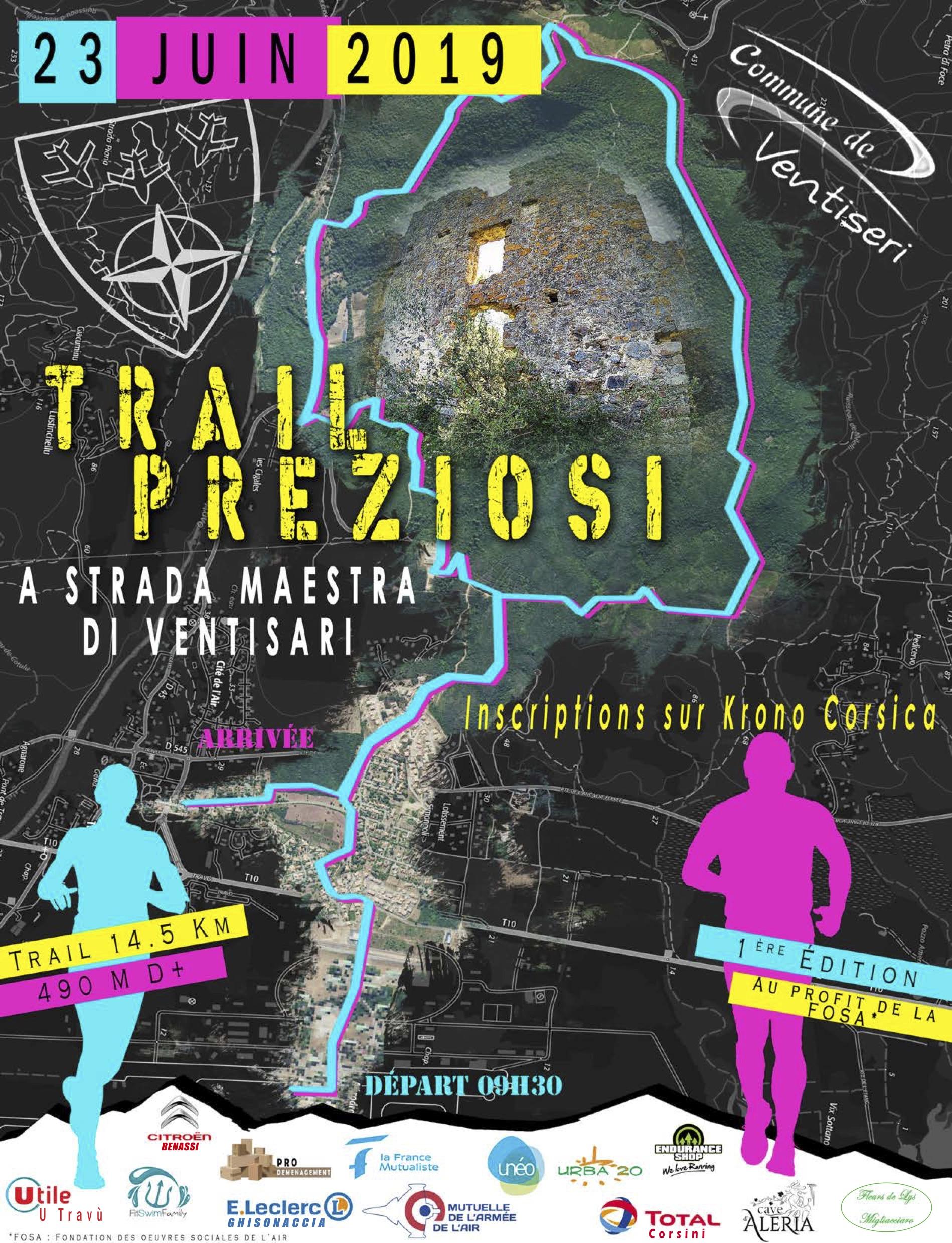 Ventiseri : Le 1er Trail Preziosi A Strada maestra c'est ce dimanche 23 juin