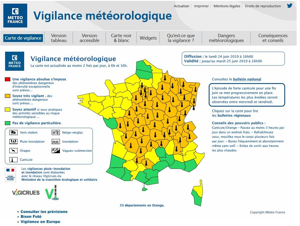 Canicule : la vigilance jaune et le niveau 2 du plan canicule activés en Haute-Corse
