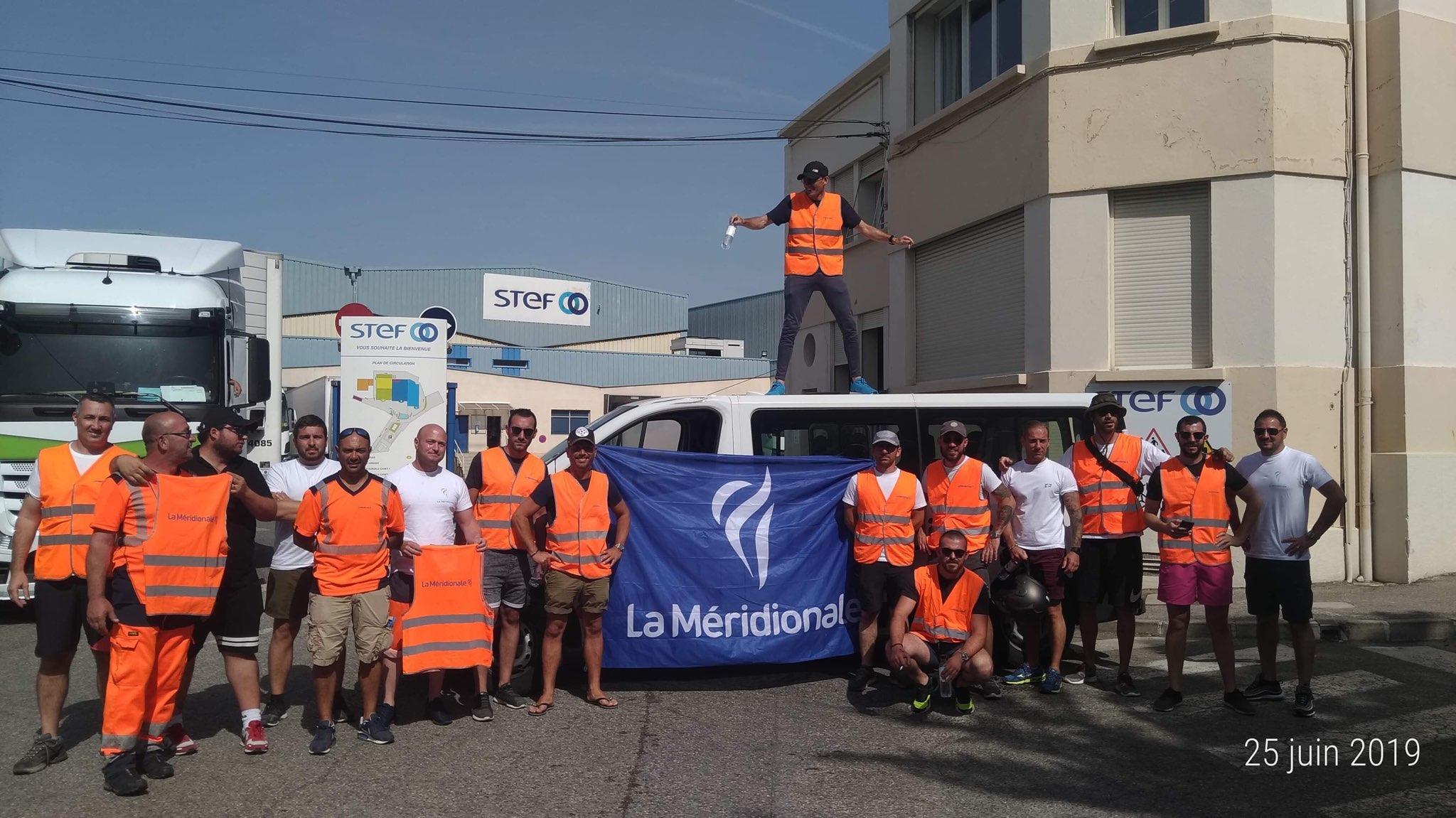 Les grévistes de La Méridionale bloquent une plateforme du groupe STEF à Marseille