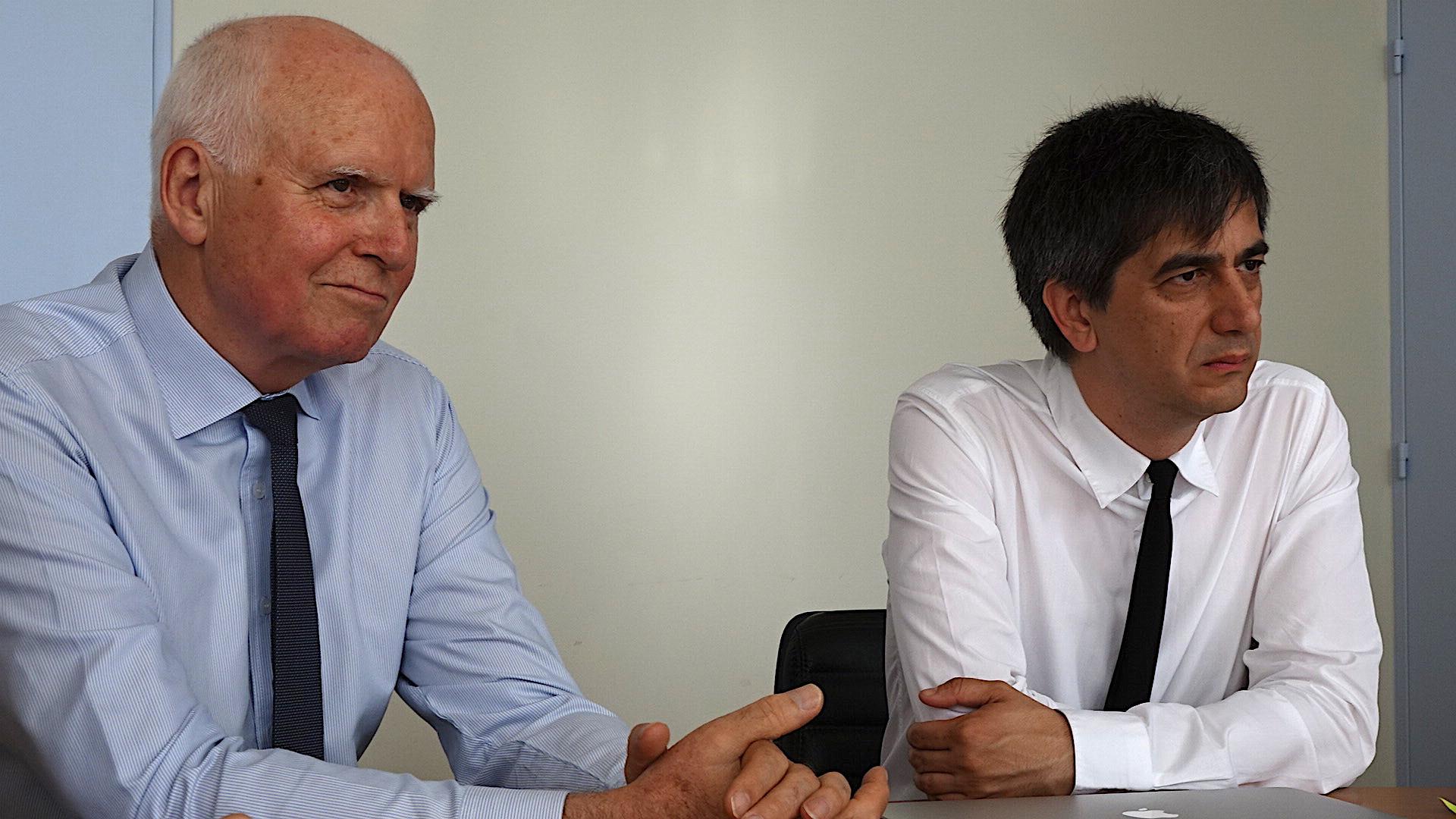 Yvon Alain (à gauche) : Il quittera ses fonctions au mois d'Août