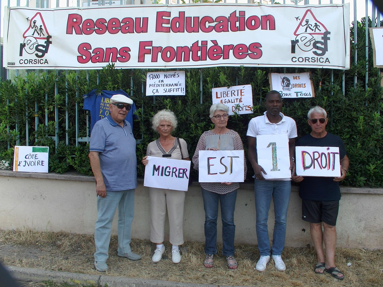 Bastia : Le collectif « Solidarité migrants » demande audience au préfet de Haute-Corse