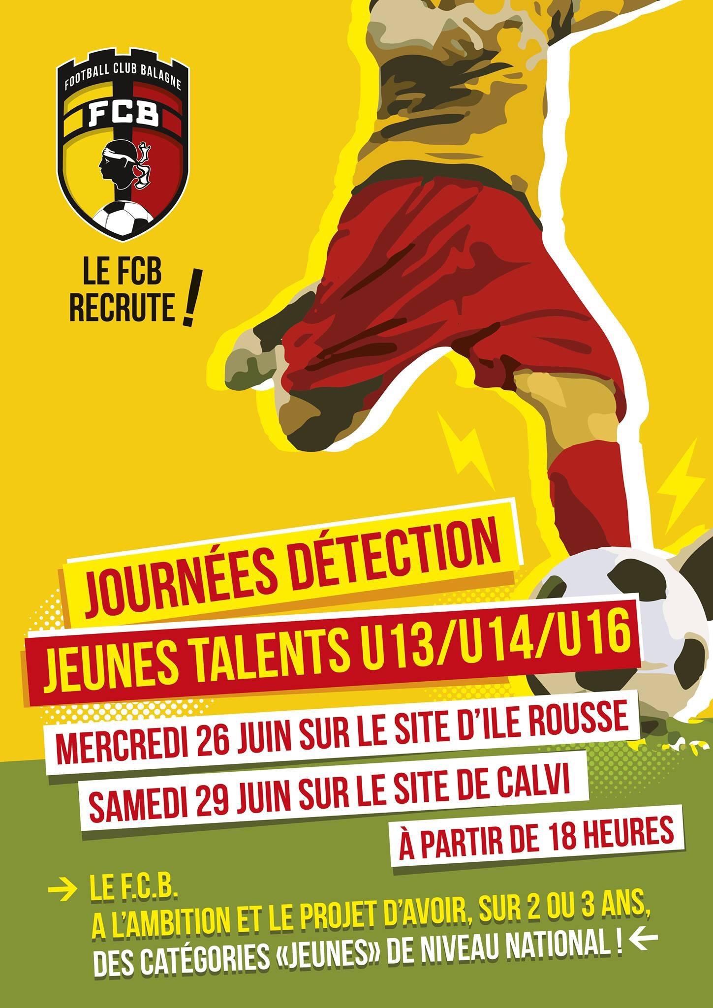 Journées de détection pour les U13, U14, U16 au FC Balagne sur les site de l'Ile-Rousse et de Calvi