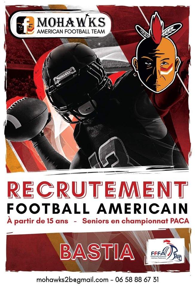Les Mohawks de Bastia recrutent