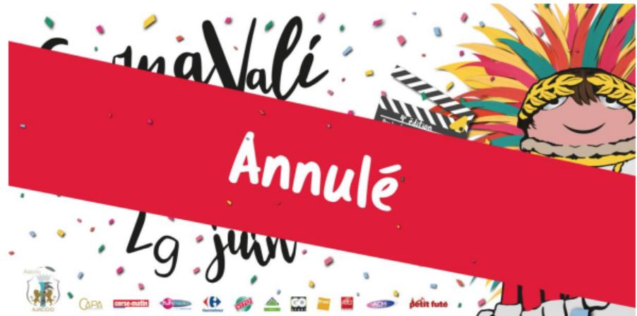 Le Carnaval d'Ajaccio annulé