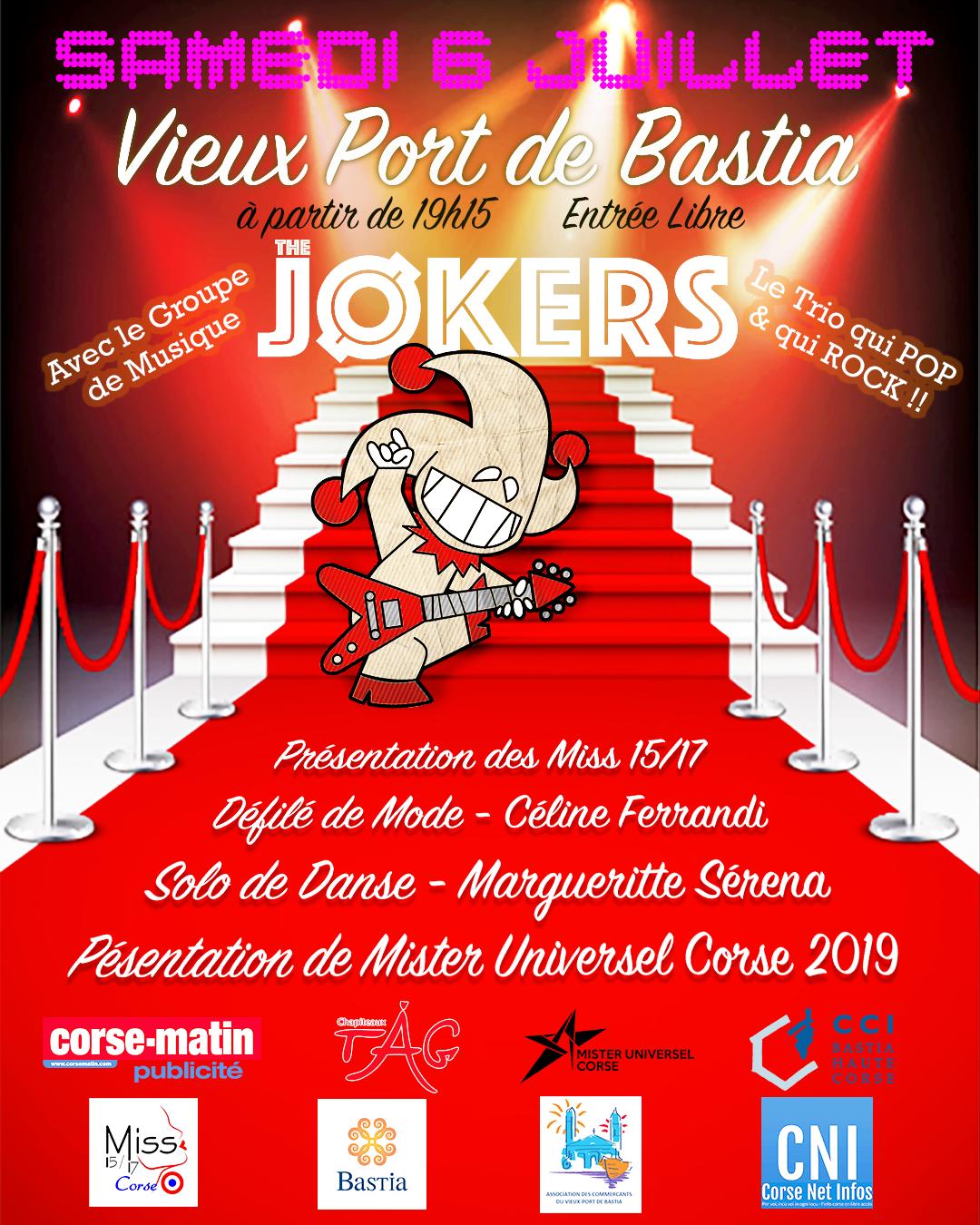 Vieux-Port de Bastia : concert gratuit du groupe The Jokers ce samedi 6 juillet
