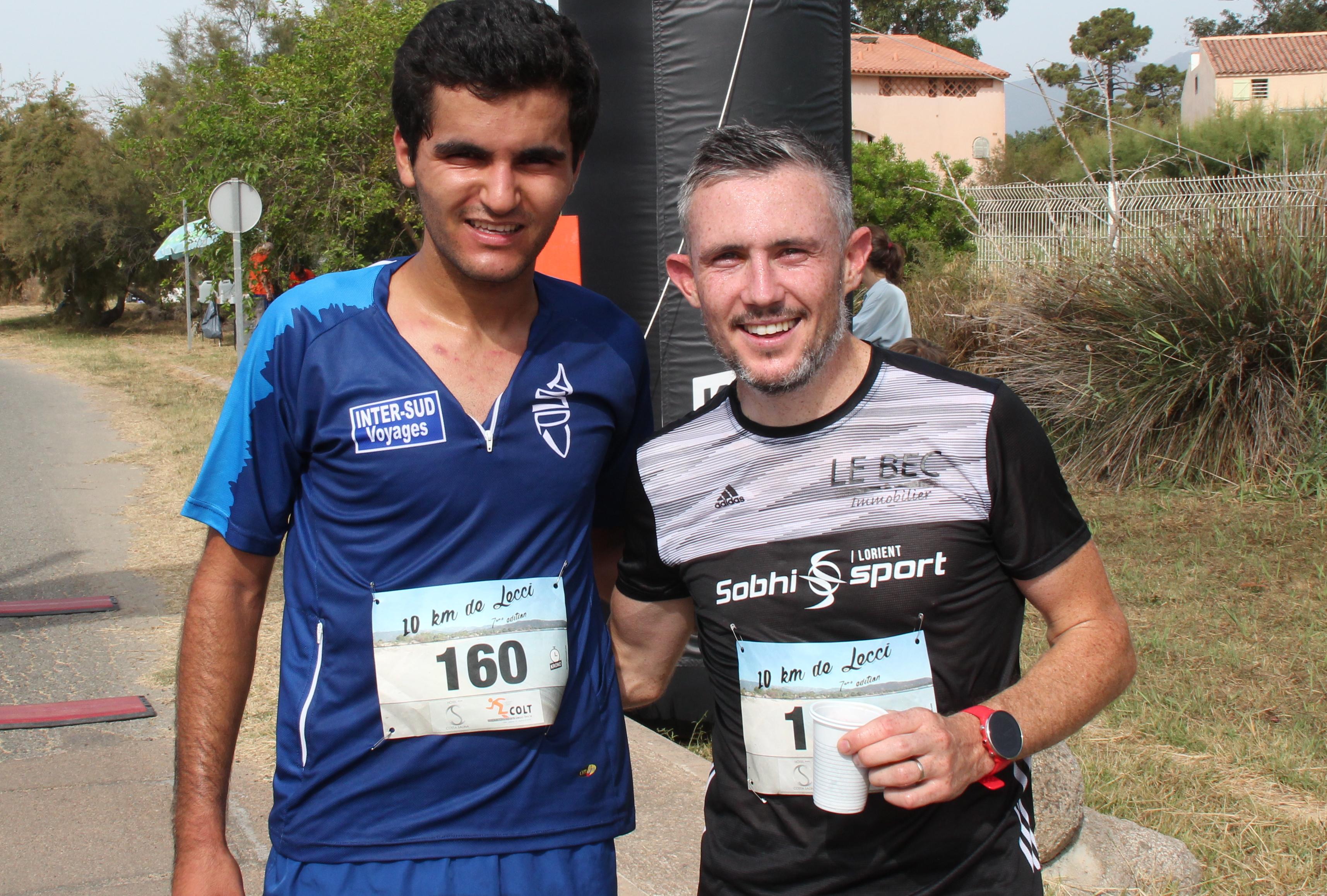 Le vainqueur Simon Gragnic et le deuxième Soufiane El Moussaoui