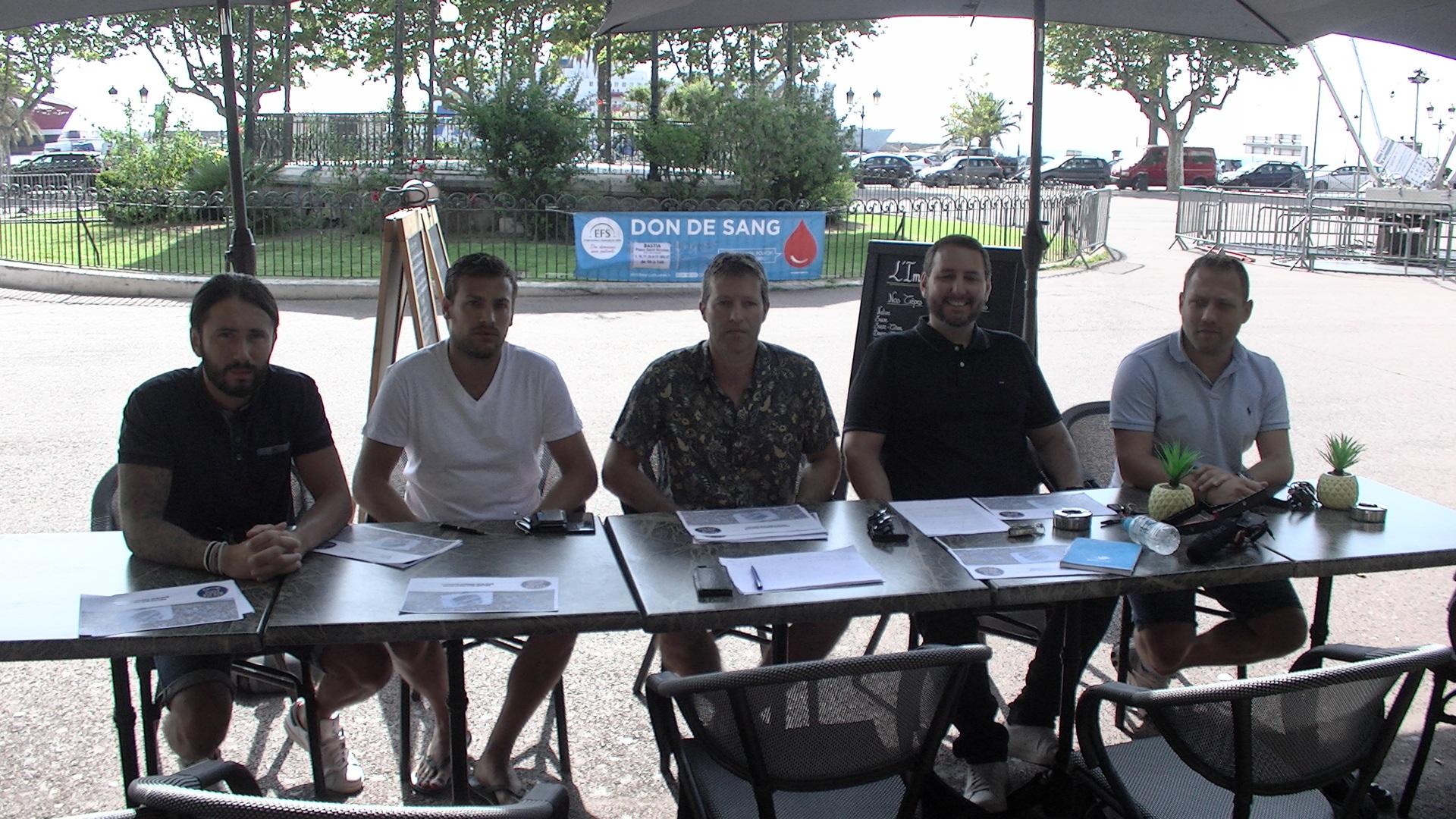 Loïc Capretti, Mathieu Chabert, Jean-François Coquery, Guillaume Longo et Ludovic Matteoli ont présenté les lignes directrices de la campagne 2019 de l'association SECB