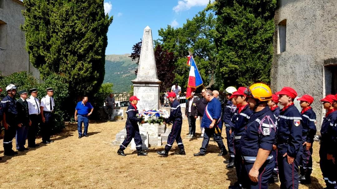 Olmi-Cappella : Les jeunes sapeurs-pompiers de Balagne aux cérémonies du-14 juillet