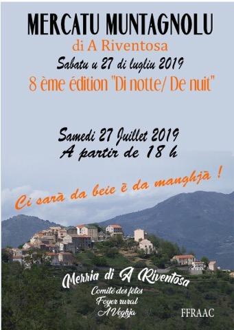 Riventosa : U Mercatu Montagnolu revient ce samedi 27 Juillet