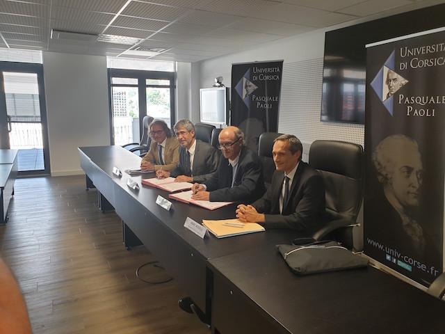 Corti : la convention-cadre de coopération entre l'Université de Corse et l'Inserm signée