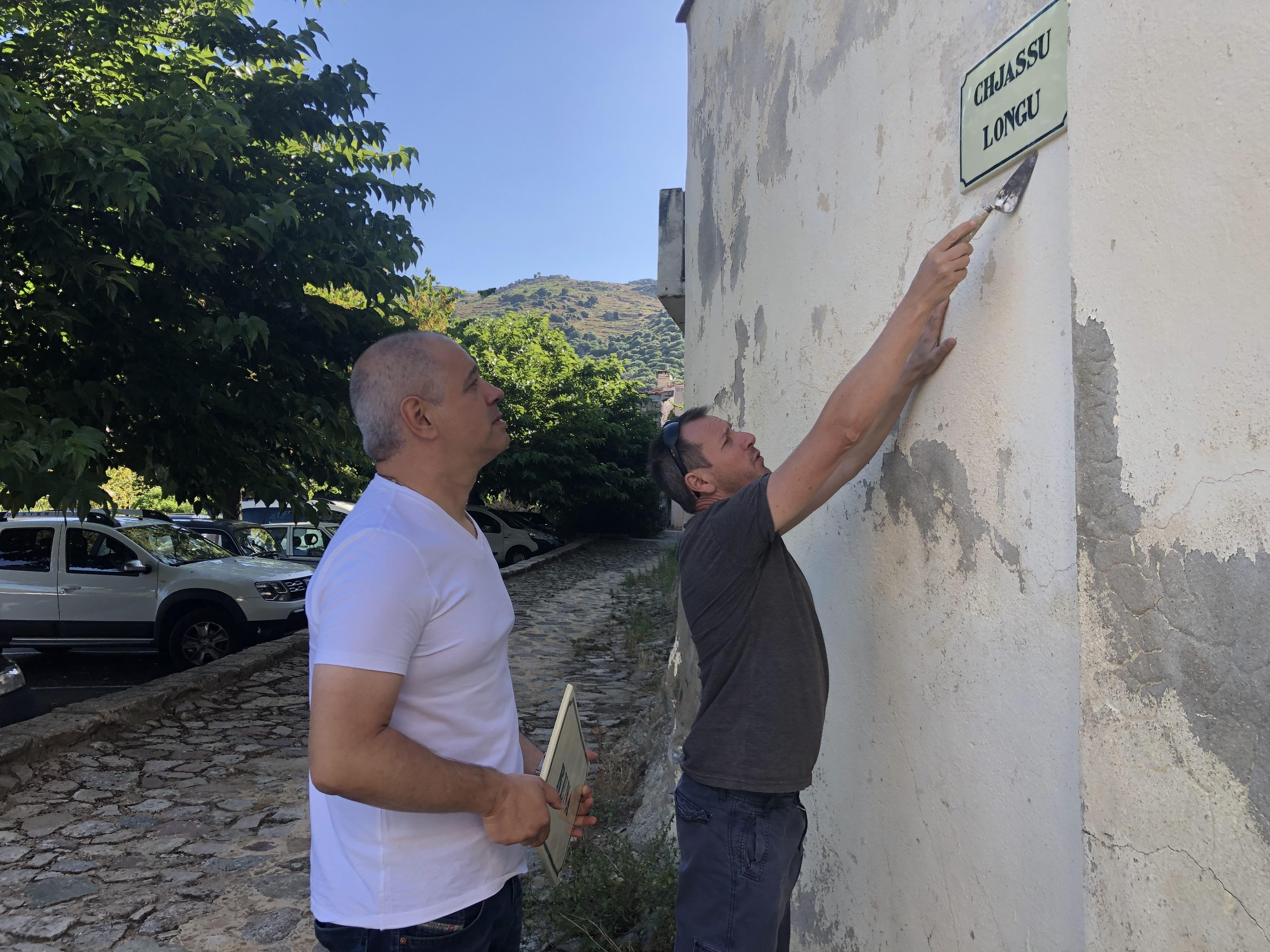 Mémoire des noms de rues perpétuée à Montegrossu