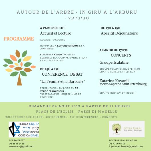 """Pianellu : """"In Giru a l'Arburu"""" avec  Terra Eretz et le Foyer Rural A Teghja"""
