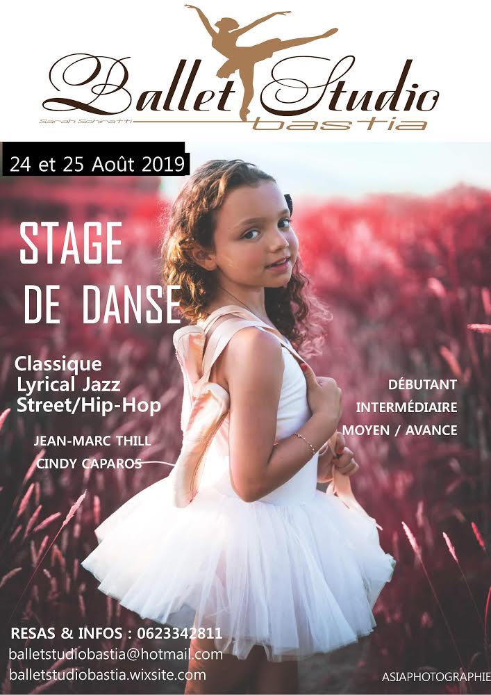Danse : Stage au Ballet Studio de Furiani en présence de Cindy Caparos et Jean-Marc Thill