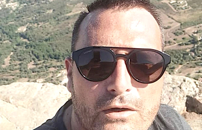 La dernière photo du malheureux randonneur : un selfie au sommet du Monte Gozzi