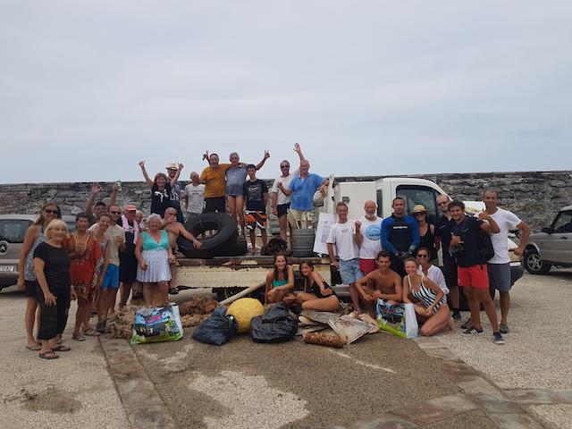 Centuri : Une opération de nettoyage inédite des fonds marins et du littoral