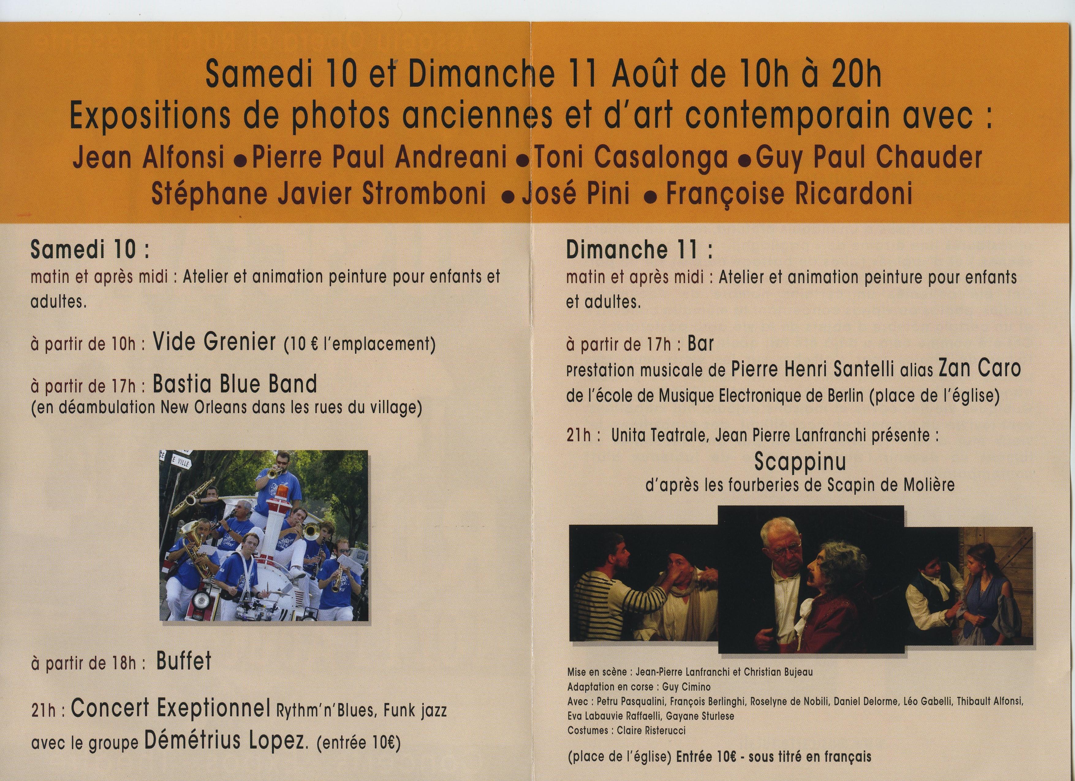 Music'Arte in Rutali les 10 et 11 Août prochains