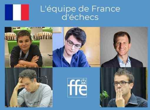 Marc'Andria Maurizzi en haut à gauche avec les autres membres de l'équipe de France !