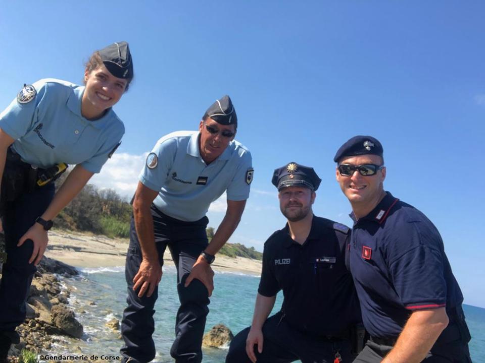Ghisonaccia : un policier allemand et un carabinier italien secondent les gendarmes