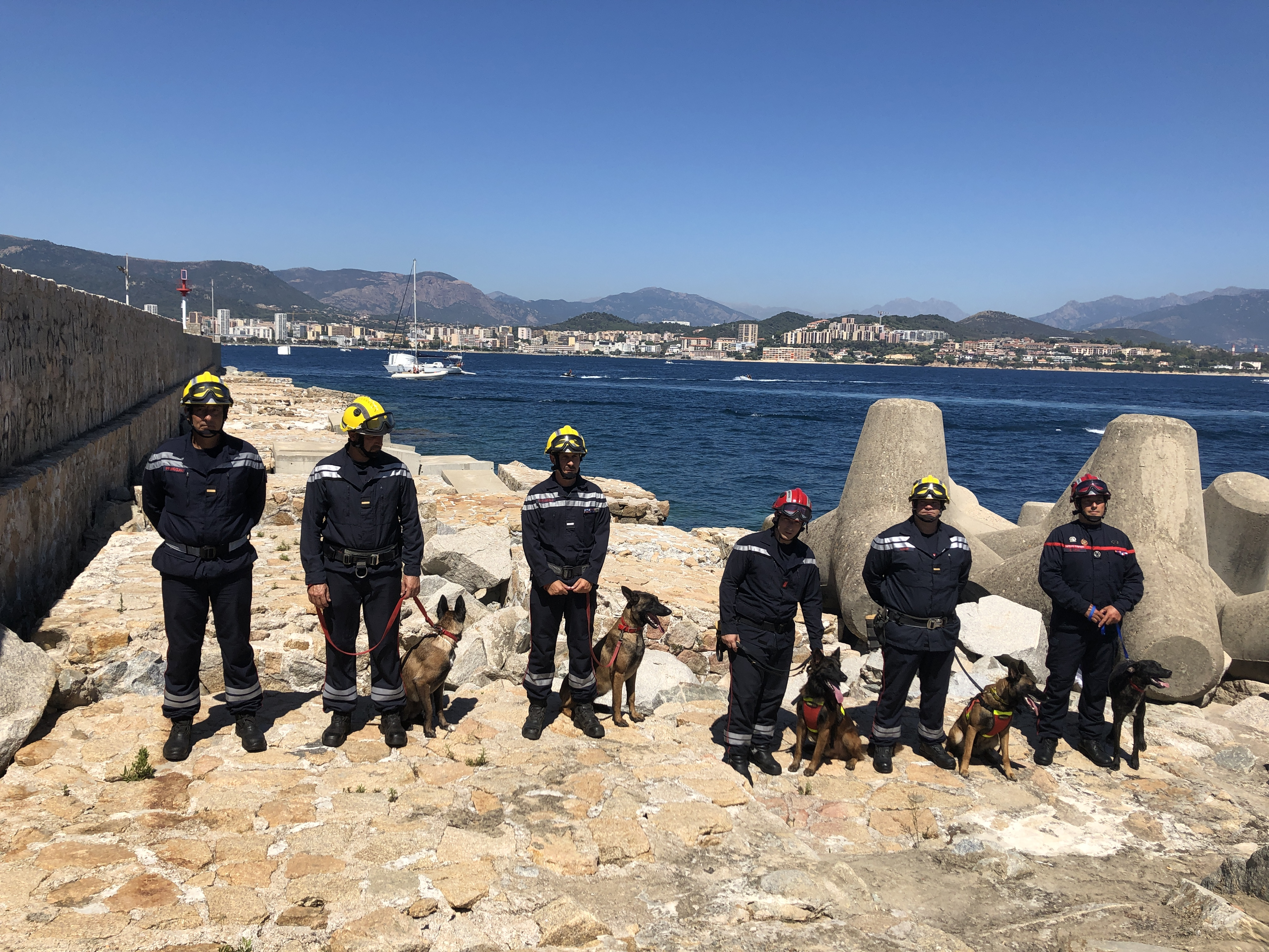Une équipe  cynotechnique en Corse-du-Sud: la belle association entre l'homme et le chien
