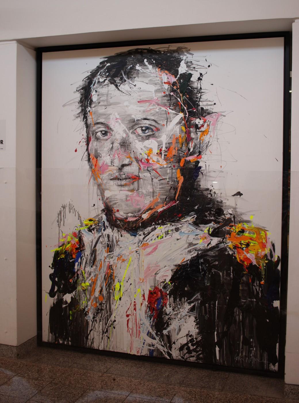 Portrait de Napoléon réalisé pour l'occasion par l'artiste peintre Hom N'Guyen