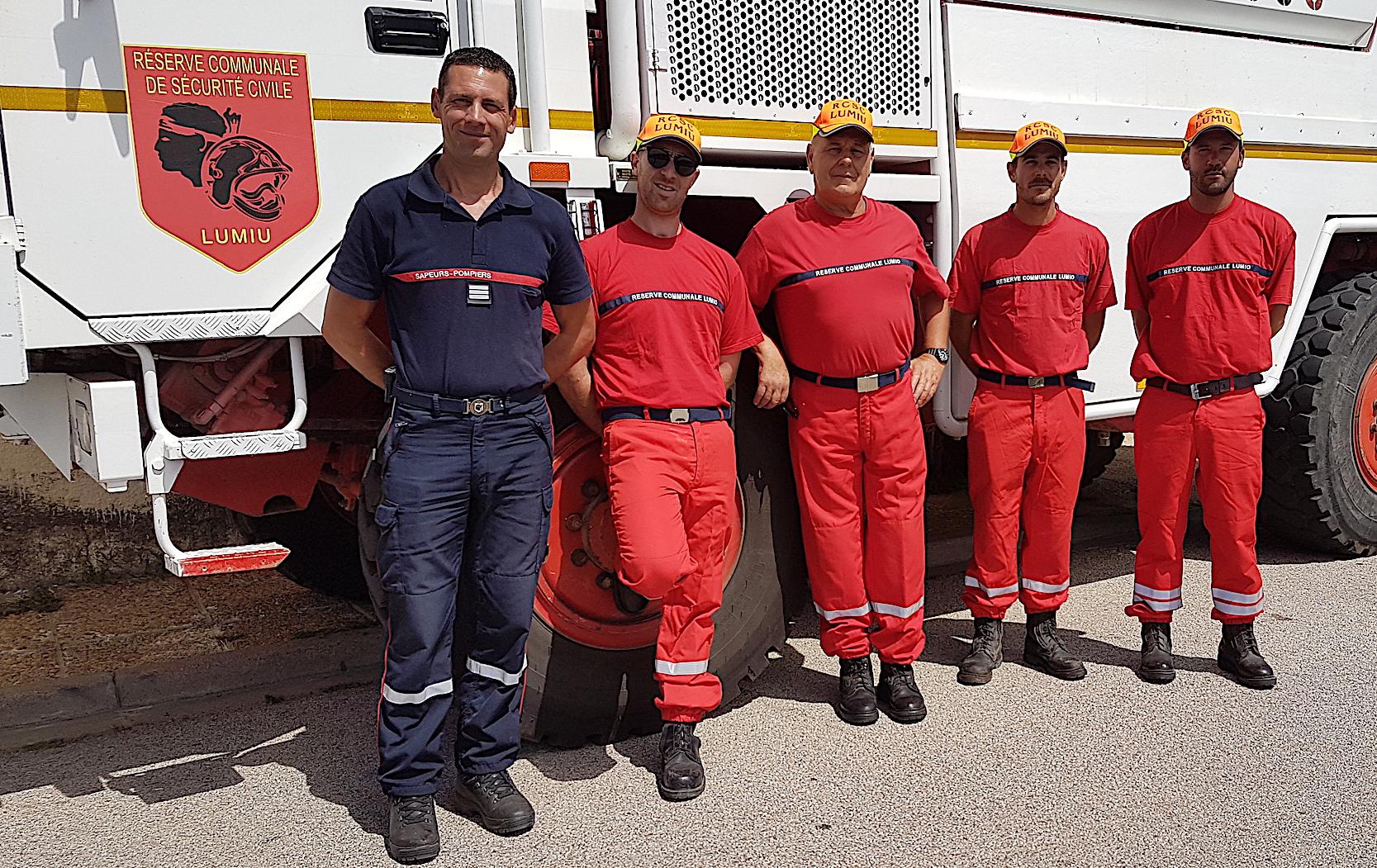 Le capitaine Stéphane Orticoni, chef du bassin opérationnel de Balagne, venu récemment saluer les réservistes de Lumiu.