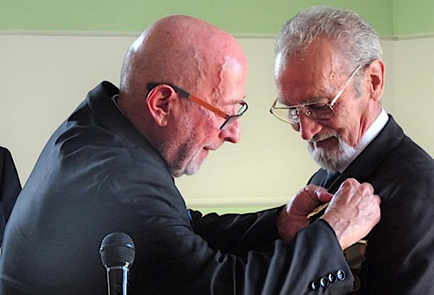 Claude Pianne chevalier de l'ordre national du Mérite honoré à Santa Reparata-di-Balagna