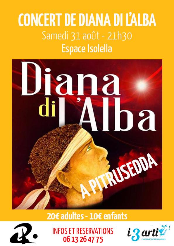 Diana di L'Alba en concert à l'Isolella (Pietrosella) le 31 août