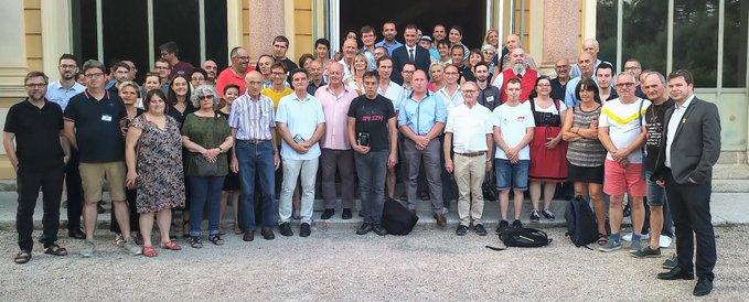 Les adhérents de R&PS reçus à la Collectivité de Corse.