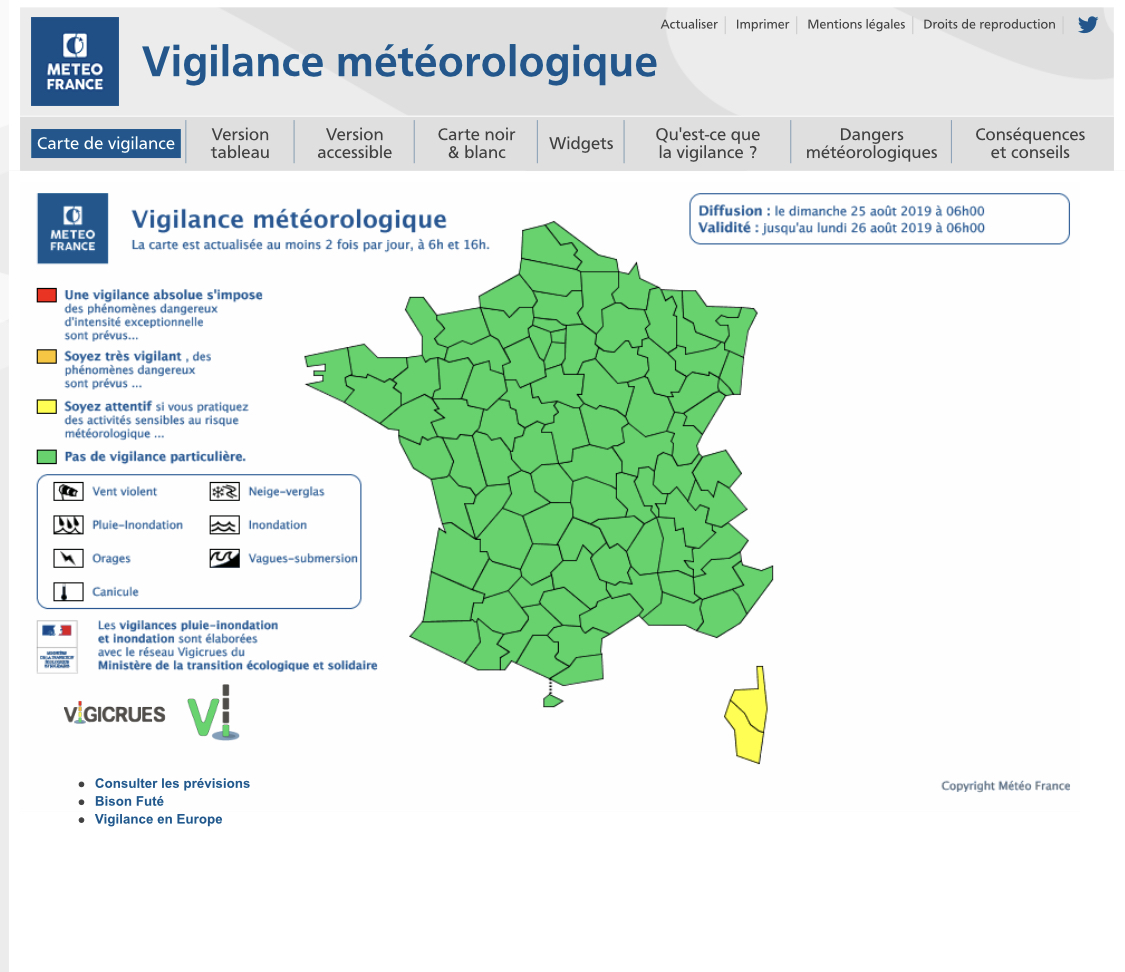 Alerte jaune : Nouvel avis d'orages pour la Corse