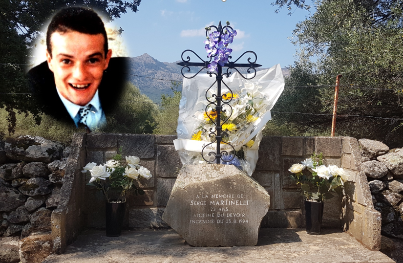 Pompiers et bénévoles de Balagne, rendent hommage à Serge Martinelli