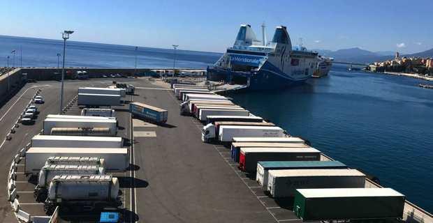 Fret sur le port de Bastia. (Photo CCI2B)
