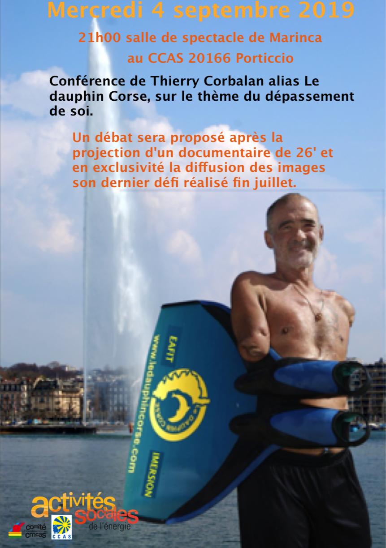 """""""Dépassement de soi"""" : une conférence de Thierry Corbalan à Porticcio"""