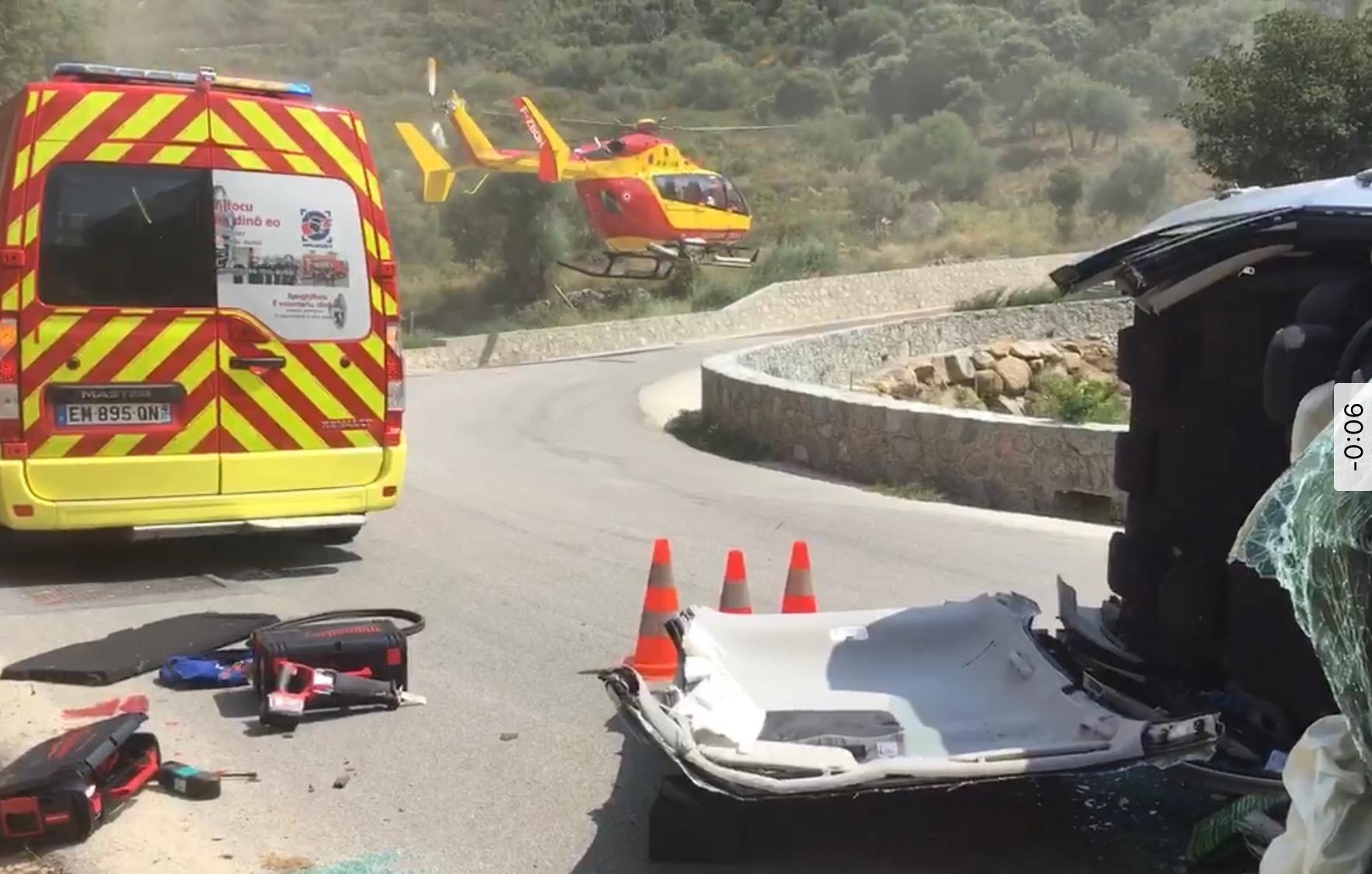 Accident à Santa-Reparata-di-Balagna : 2 blessés dont un grave  évacué par hélicoptère