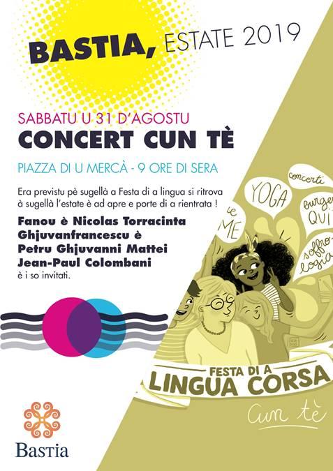 Bastia : concert Cun Tè sur la place du Marché