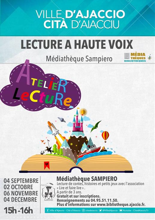 Ajaccio : animations de la médiathèque Sampiero