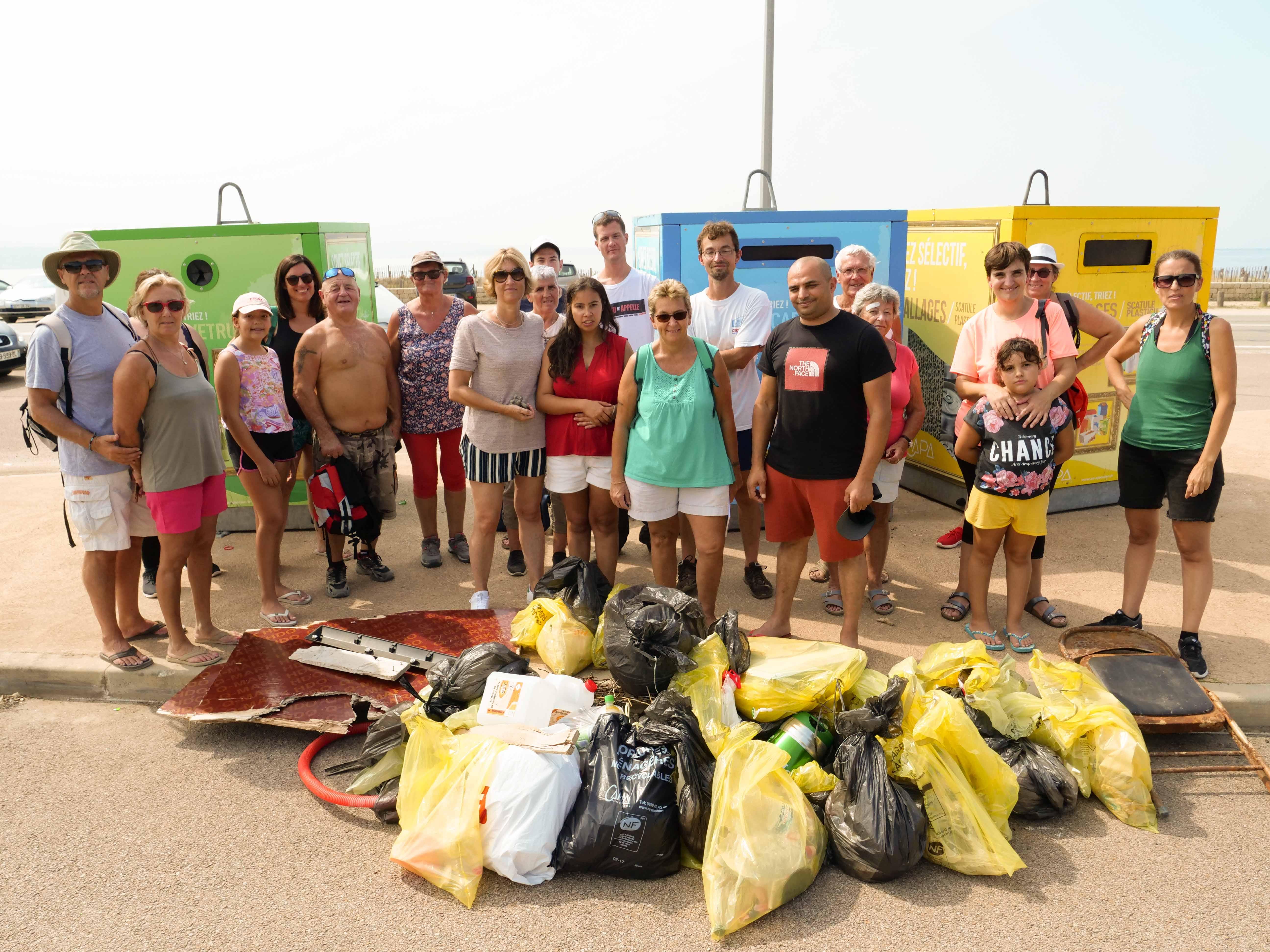 Ajaccio  : L'initiative citoyenne de Corsica Clean Nature  pour la propreté de la plage du Ricanto