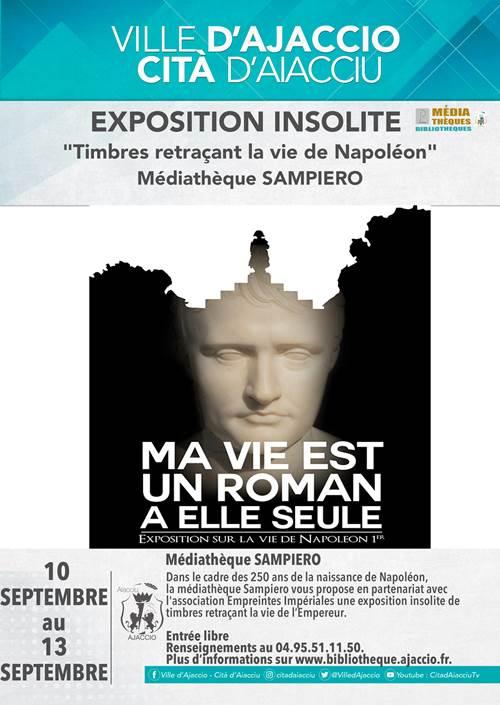 "Ajaccio : Une exposition insolite ""Timbres retraçant la vie de Napoléon"